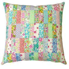 A Liberty Patchwork Pillow