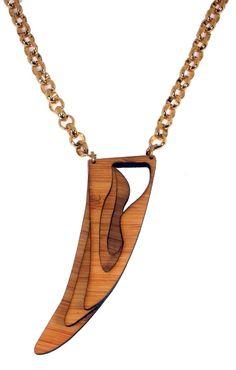 etsy, KinetikSoul, Eco-Friendly Bamboo Necklace: Echo Horn-KSN111001