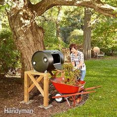 Drum composters convert yard waste to finished compost much faster than stationary compost bins do because they allow you to churn and instantly aerate the
