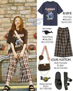 Wide Pants, Denim Pants, Velvet Fashion, Kpop Outfits, Seulgi, Printed Tees, Pop Fashion, Dr. Martens, Red Velvet