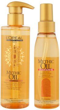 L'Oreal Professionel Mythic Oil Shampoo & Colour Glow Oil Bundle on shopstyle.co.uk