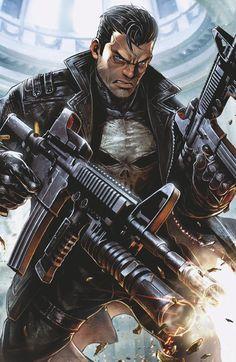 The Punisher Issue # 1 (Marvel Comics) Marvel Dc, Marvel Comics Art, Marvel Comic Books, Marvel Heroes, Marvel Characters, Comic Books Art, Captain Marvel, Comic Art, Avengers Comics