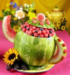 Watermelon Teapot-Wedding shower idea (: im deff doing it!