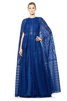 Ca' d'Oro Embroidered Tulle Cape Big Dresses, Elegant Dresses, Tadashi Shoji Dresses, Abaya Fashion, Mode Hijab, Muslim Women, Kebaya, African Dress, Modest Outfits
