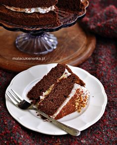 Torcik czekoladowy wegański, bez glutenu, bez cukru - Mała Cukierenka Vegan Cake, Vegan Treats, Tiramisu, Recipies, Gluten Free, Sweets, Fit, Ethnic Recipes, Recipes