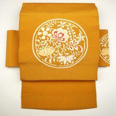 Light brawn, silk nagoya obi / 織りで柄を施したすっきりとしたデザインの名古屋帯 http://www.rakuten.co.jp/aiyama #Kimono #Japan #aiyamamotoya