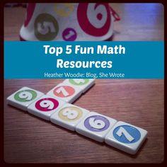 Heart of the Matter: Top 5 Fun Math Resources  #math #homeschool #SHEM