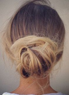Inspiration for the Perfect Messy Bun | Sand Sun & Messy Buns