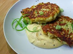 Cooking Weekends: Gluten Free Zucchini Patties with Curry Sauce