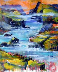 "Nordic Dream by Christina Kjelsmark - 48"" x 60"", Acrylic on Canvas - $6,050.00 - www.nordicartwork.com"