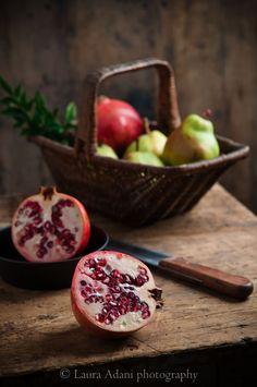 pomegranate cut in half....