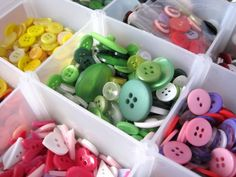 """""""Button Craft Project Ideas: How to Make Easy Crafts with Buttons"""" shows surprisingly sophisticated jewelry and craft items made with buttons."""