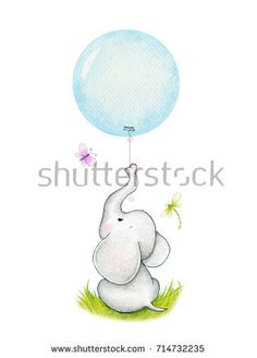 Find Cute Elephant Blue Balloon stock images in HD and millions of other royalty-free stock photos, illustrations and vectors in the Shutterstock collection. Thousands of new, high-quality pictures added every day. Baby Animal Nursery, Nursery Art, Baby Animals, Cute Elephant, Elephant Party, Blue Balloons, Balloon Tattoo, Sweet Tattoos, Tatty Teddy
