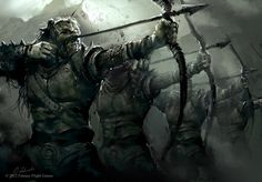 Orc Archers Squad by daRoz.deviantart.com on @deviantART