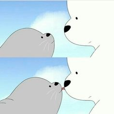 Ice Bear We Bare Bears, We Bear, Cartoon Icons, Bear Cartoon, Cute Cartoon Wallpapers, Cute Wallpaper Backgrounds, We Bare Bears Wallpapers, Bear Wallpaper, Cute Emoji