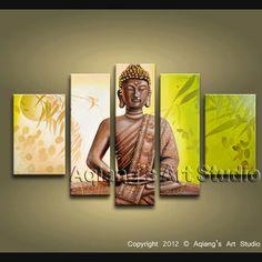 Buddha Feng Shui Oil Painting Modern Contemporary Zen Art Home Decor Wall Large   eBay