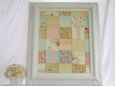 SHABBY CHIC NURSERY Magnetic Fabric Memo Board by RevivedVintage, $139.00
