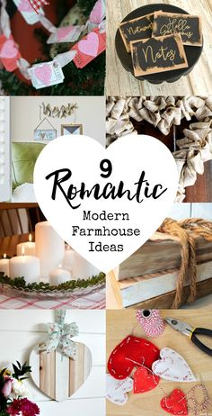 9 Romantic Modern Farmhouse Ideas #modernfarmhouse #fixerupper #romantic #ValentinesDay