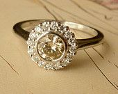 Scalloped Bezel Moissanite Ring. $1,595.00, via Etsy.