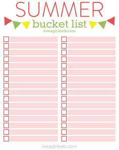 NEW from Iowa Girl Eats: 40 Summer Bucket List Ideas + Free Summer Bucket List Printable! Summer Fun List, Summer Bucket Lists, Free Summer, Summer Diy, Summer Crafts, Summer Ideas, Bujo, Outdoor Dates, Fun Bucket