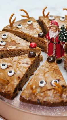 You've never seen Christmas Blondies as cute as these!