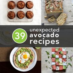 39 Deliciously Unexpected Healthy Avocado Recipes: I want to eat all the things. Think Food, I Love Food, Good Food, Yummy Food, Healthy Snacks, Healthy Eating, Healthy Recipes, Healthy Skin, Delicious Recipes