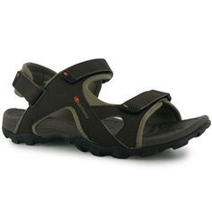 fd1d4e25afcf12 Karrimor Mens Gents Antibes Hook Loop Fasten Padded Strap Sandals Shoes  Hiking Sandals