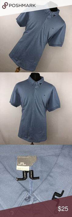 5949e821cec2 J Lindeberg XL Polo Shirt Light Blue Embroidered J Lindeberg XL Polo Shirt  Light Blue Embroidered