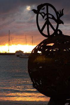 St Maarten Buccaneer Beach Bar Sunset - fire pits at night  www.thetropicaltravelers.com