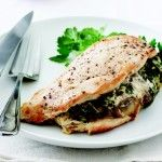 Stuffed Turkey Breast This is beautiful, spinach and mushrooms sounds elegant, and easy. A good main.