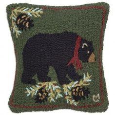 Merry Black Bear Pillow