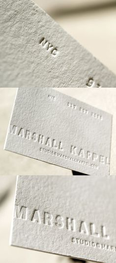 Marshall Kappel's Letterpress Business Card