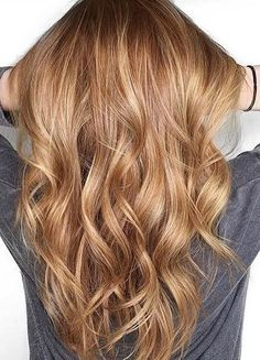 beautiful mix of auburn and bronde hair color