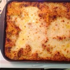 Yummy Lasagna Allrecipes.com. Make sure and read reviews-have to try this one!