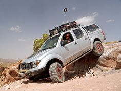 Nissan Frontier in the Moab Desert.