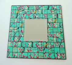 Green Tea Recycled Can Mosaic Tile Mirror  by beforethelandfill, $35.00