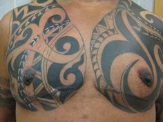 Tribal chest scar cover up by ~madamelazonga on deviantART