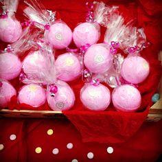 Strawberry Milkshake LoveHearts Bath Bombs. by LovelyBubblyShop