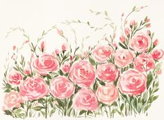 Watercolor roses Watercolor Rose, Blush Roses, Floral Wreath, Wreaths, Wall Art, Flowers, Plants, Easter Decor, Inspiration