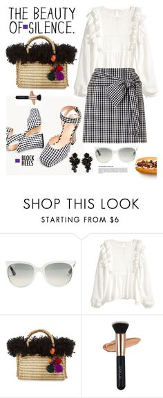 """""""Step Up: Block Heels"""" by hamaly ❤ liked on Polyvore featuring Ray-Ban, Nannacay, Ann Taylor, outfit, ootd and blockheels"""