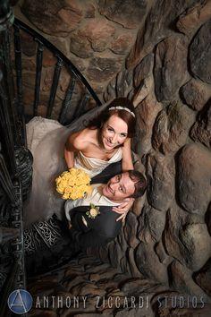 Staircase photo at Grand Cascades.  #GrandCascades #weddingday #bride #groom #happycouple #anthonyziccardistudios #ateam #aziccardi #AZS