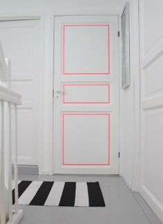 modern interiors with bright accents in neon colors-love this door....nice idea