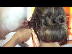 Cross Braid Cool Hair Bun | Step By Step Tutorial | HI Fashion Hairstyle - YouTube