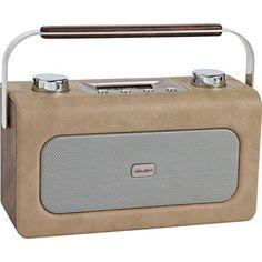 1960s-style Bush leather DAB radio
