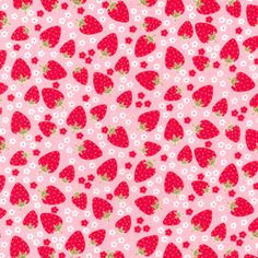 Need to make something for Olivia with this.  Michael Miller House Designer - Strawberry Tea Party - Blossom Berries in Pink