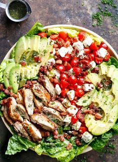 17 Mediterranean Diet Chicken Recipes to Make for Weeknight Dinners Lemon Herb Avocado Chicken Salad Recipe With Crispy Bacon & Creamy Feta Cheese is the [. Easy Mediterranean Diet Recipes, Mediterranean Dishes, Mediterranean Chicken Salad Recipe, Avocado Chicken Salad, Chicken Salad Recipes, Clean Chicken Recipes, Healthy Chicken Salads, Diet Salad Recipes, Greek Chicken Salad
