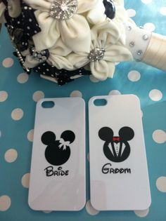 Bride and groom disney iPhone case by OnceUponAGeek1 on Etsy, £10.00