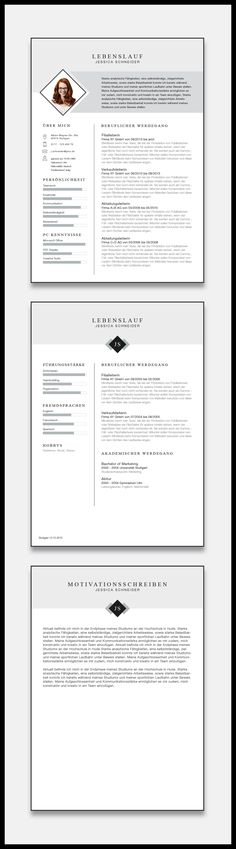 31 best Lebenslauf Vorlagen & Muster images on Pinterest | Cv resume ...