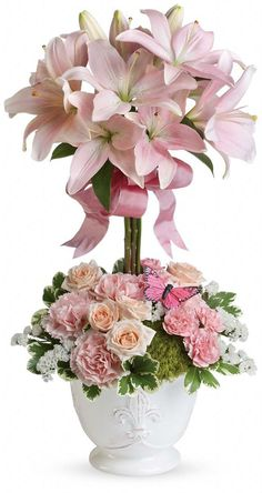 new convection Flower Arrangement | Teleflora's Blushing Lilies - save 15% with our coupon