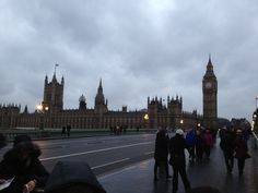 Big Ben and Parliament in their natural environment...cold and rainy!